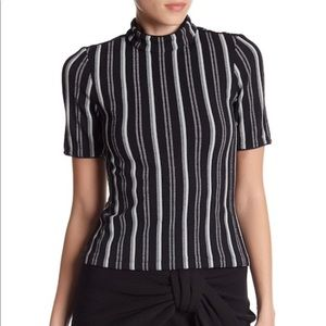 NWT Opening Ceremony Black Multi Striped Top M